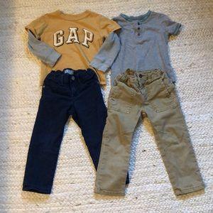 Boys 3t bundle 2 jeans & 2 tops